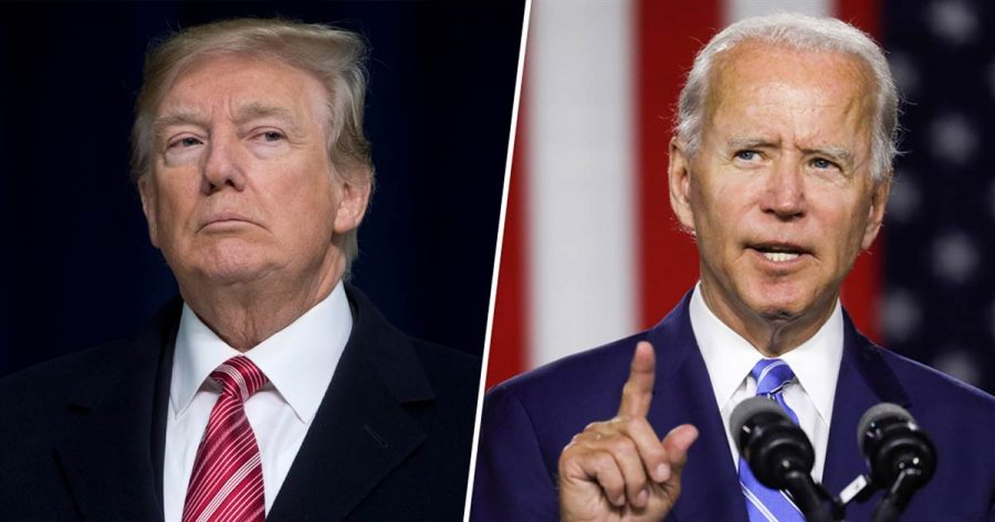 Donald+Trump+and+Joe+Biden