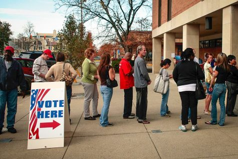 People wait in line to vote (Photo: AP)