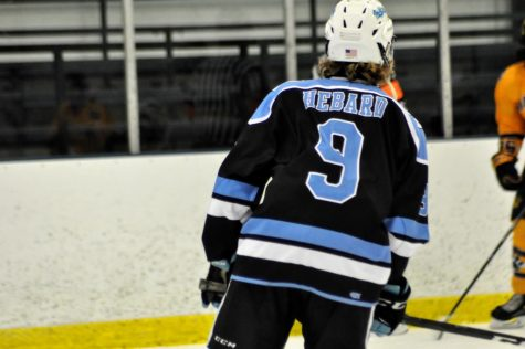 """Bappo"", Hayden Hebard steps up for Indians Hockey defense."