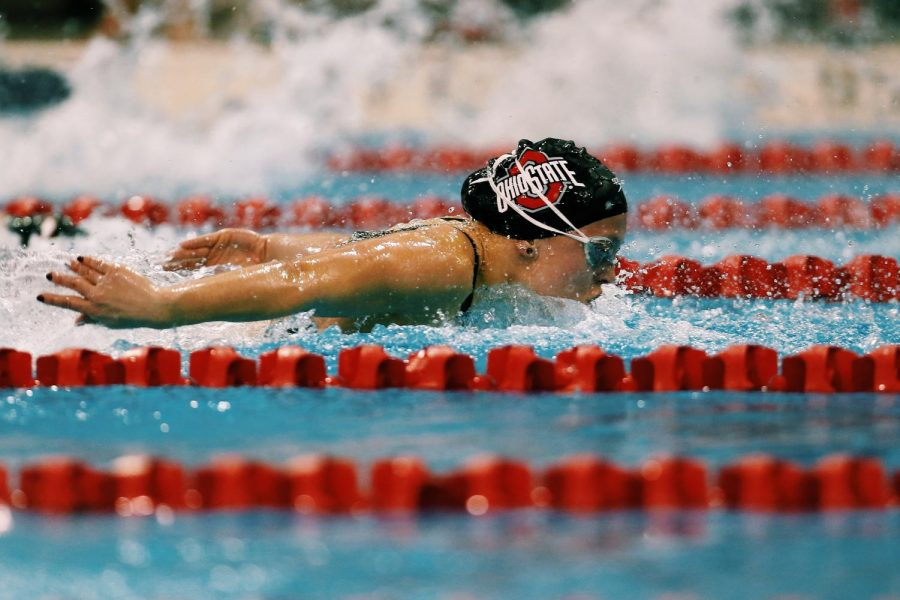 Aislinn Walsh competes for The Ohio State University Buckeyes.