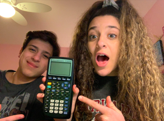 Andrew Achkar (pictured left) and Marie Achkar (pictured right) studying for a math test together.