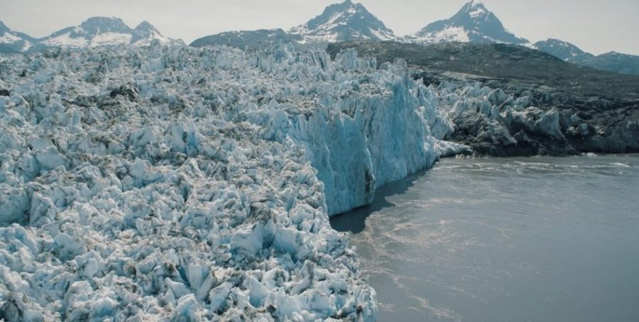 Image taken of Columbia Glacier located in Alaska. The glacier has been melting for several decades now and has melted over 12 miles.
