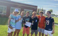 Top 3 teams in the cornhole tournament