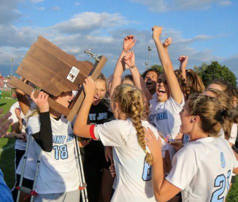 Girls Soccer team gets awarded for outstanding performance this season.