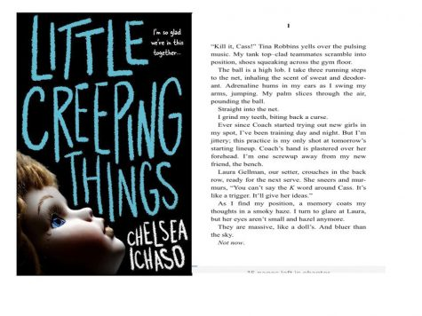 Front cover and first page of Little Creeping Things